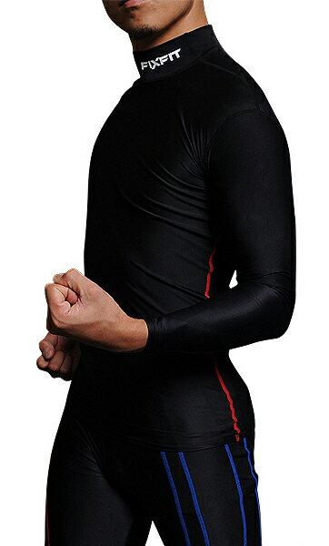 ★ダイエットのインナー 筋肉疲労を軽減 スポーツウェア FIXFIT MAX【品番:ACW-X03 ロング ハイネック メンズM】コンプレッション 加圧インナー サポート 長袖 メンズ レディース アンダーウェア 日本製 ヨガ トレーニング フィットネス 健康グッズ ロットNo:0316J