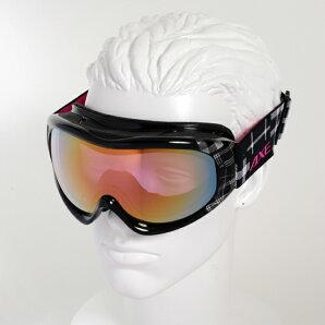 【最安値チャレンジ】★15-16NEWモデルアックスAX600-WCMBKスノーボードゴーグルスキーゴーグルAXEアックススノーゴーグル2015-2016ダブルレンズメガネ対応曇り止め機能付きヘルメット対応