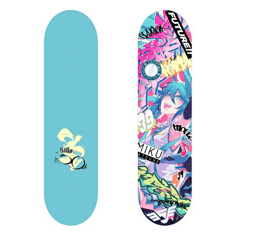 [Hobby Stock Exclusive] HSSB Hatsune Miku Skate Deck Ill. by MONQ  (In-Stock)