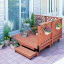 ガーデンシステムデッキ1.0坪セットGSD-1.0STブラウン