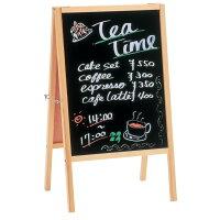 【直送品】TimeSale!レビューを書いて送料無料!!両面ブラックボードGXB-77ダークブラウン[アイリスオーヤマ・カフェ看板・黒板・メニュー表・ウェディングウェルカムボード・パーティ案内・市販のボードマーカー使用可・店頭POP看板・マグネット対応・デザイン]【RCP】