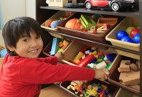 天板付きトイハウスラックブラウンパステルキャロットおもちゃ収納棚おもちゃ収納ラック天板付おもちゃ棚収納ラックおもちゃ箱子供部屋お片付け収納ケース【D】
