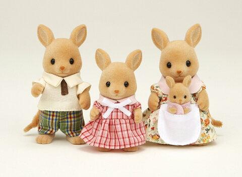 シルバニアファミリー カンガルーファミリー FS-03エポック シルバニア ドールハウス 動物 知育玩具 ままごと お人形遊び 女の子向け 着せ替え 【TC】