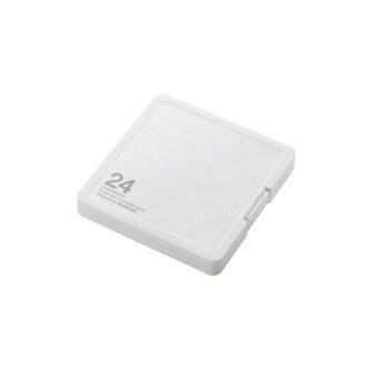 為記憶卡案例 / 12 指數掛載 SD microSD + 12 片 / 白色 (CMC SDCPP24WH) 製造商投放專案