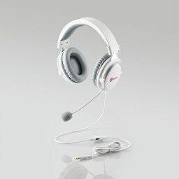【ELECOM(エレコム)】ヘッドセット オーバーヘッド ゲーミング 両耳 φ3.5mm 4極ミニプラグ PS4 PS5 任天堂スイッチ ホワイト [▲][EL]
