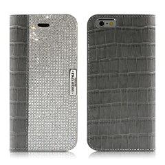 iPhone6 Plus Wannabe Leathrer Diary グレー iPhone6…