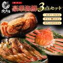 海鮮 ギフト 贈り物【感謝 豪華 3点ギフト セット】腹袋 3点入 北海道の美味しさをまるごと凝縮した福袋 毛蟹 ズワイ姿 ぼたんえび けがに 毛ガニ ず
