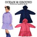 OCEAN & GROUND(オーシャン アンド グラウンド)Girl'sレインコート(オーシャン&グラウンド レインコート キッズ おしゃれ かわいい 女の子 子供用 ジュニア 小学生 rain coat kids)