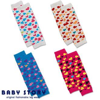 """寶貝的心設計襪套 BabyStory""""日本製造""""(暖腿套襪套孩子寶貝衣服的孩子)"""