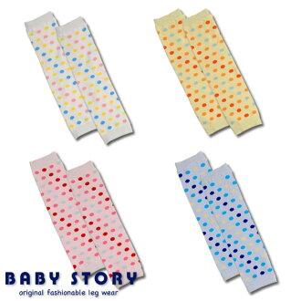 寶貝水貂PRF圓點重新設計襪套 BabyStory [日本製造的] (兒童兒童嬰兒襪套嬰兒嬰兒暖腿套衣服)