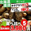 【送料無料】北海道産ジャガイモCセット(男爵薯&メークイン)10kg【新じゃが/いも/イモ/薯/新じゃが/ジャガイモ/じゃがいも/北海道/北海道産/お取り寄せ/秋の味覚/野菜】