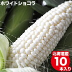 今季出荷開始!とうもろこし 北海道 送料無料 北海道産 ホワイトショコラ 10本【トウモロコシ とうきび 白系 ホワイト 白いとうもろこし 北海道直送 旬 果物 フルーツ 産地直送 ピュアホワイト系】