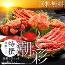 贈り物 ギフト カニ送料無料 特撰 海鮮セット 潮彩(しおさ...