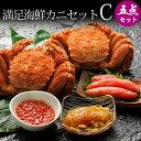 満足海鮮カニセットC(毛ガニ2尾+海鮮3種)送料込み 蟹セッ...