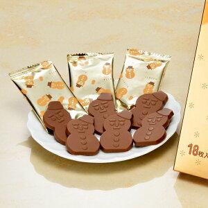 ポイント 雪だるま チョコレート