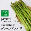 北海道新ひだか町 ファームホロ グリーンアスパラ Lサイズ 1kg 北海道 お土産 野菜 ギフト 甘い