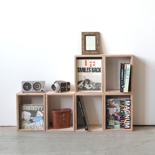 【キューブボックス・Sサイズ(単品)】北海道産木材・おしゃれ ・ウッド・木箱・木製・男前インテリア・西海岸・収納ボックス・収納box