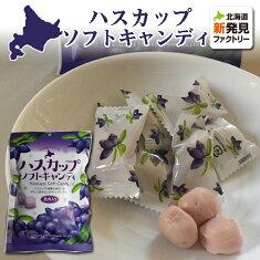 お菓子北海道お取り寄せロマンス製菓ハスカップソフトキャンディ袋70g
