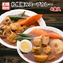 カレー 送料無料 2種から選べる 札幌極みスープカレー 4食...
