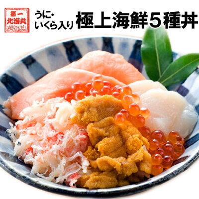 敬老の日 海鮮 北海道直送 海鮮丼 5種 無添加うに 北海道産いくら 4食入 個包装 母の日 父の日 ギフト 送料無料
