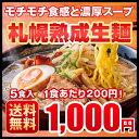 ラーメン 送料無料 北海道 5食セット 札幌熟成生麺 5種スープ食べ比べ ポッキリ 醤油 みそ 塩 1000円 ※スープがリニューアル! 2