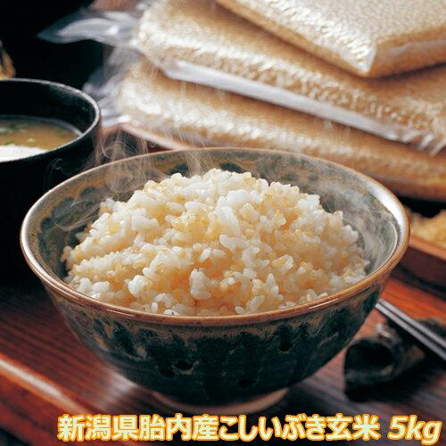 令和2年産新潟産こしいぶき5kg玄米 込み 食味Aランク(ほぼ無農薬)一等級 色選別済 産地直送
