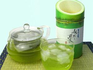 水出し煎茶とガラス急須嵯峨野竹割缶詰合せ 【送料無料】