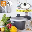 EGGFORM 圧力鍋/3.0L (書籍:おいしい料理の生まれ方&オリジナルタイマー&ガラス蓋付き)アルミ 鋳造 キャスト 安全 省エネ テフロンプラチナプロ ふっ素樹脂 IH 日本製