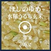 ほしのゆめ玄米30kg送料無料1等米北海道米29年産