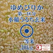 ゆめぴりか玄米30kg第一区分1等米令和元年産北海道米