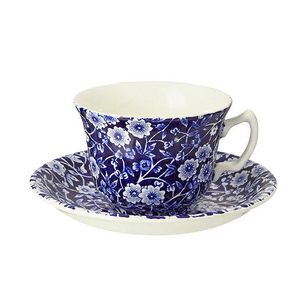 Burleigh Calico Cup & Saucerバーレイ ブルーキャリコ カップ&ソーサー [Breaktime]