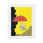 【送料350円】Moominムーミンカラーミニポスター(リトルミーと傘/24×30cm)【北欧雑貨】【YDKG-f】【02P11Nov11】