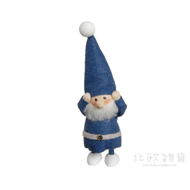 NORDIKA nisse ノルディカ ニッセ クリスマス 木製人形(なやむサンタ/ブルー/NRD120086) 【北欧雑貨】