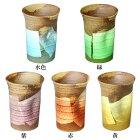 九谷焼ペコフリーカップ銀彩(小)各種[グラスタンブラービアグラスビアカップ]