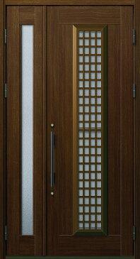 YKKAP玄関 玄関ドア 通風プロント[Aタイプ] 親子 ドア高23タイプ:S12型[幅1235mm×高2330mm]【ykk】【YKK玄関ドア】【通風ドア】【網戸付き】【通風玄関】