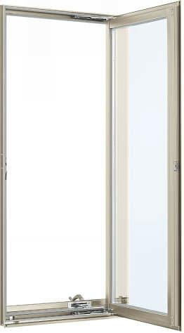YKKAP窓サッシ装飾窓フレミングJ[複層防犯ガラス]たてすべり出し窓オペレーター仕様[型4mm+合わせ透明7mm]:[幅300mm×高970mm]