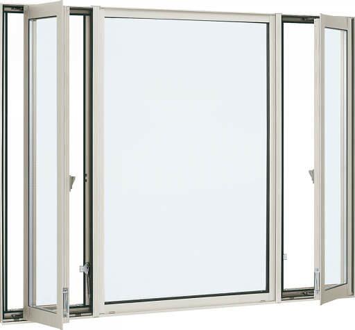 YKKAP窓サッシ装飾窓エピソード[Low-E複層防音ガラス]たてすべり出し窓+FIX窓[両袖][Low-E透明5mm+透明4mm]:[幅2600mm×高1170mm]
