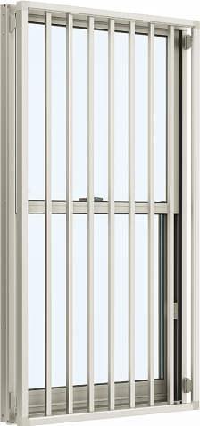 YKKAP窓サッシ装飾窓エピソード[複層防音ガラス]面格子付片上げ下げ窓たて格子[透明4mm+透明3mm]:[幅300mm×高970mm]