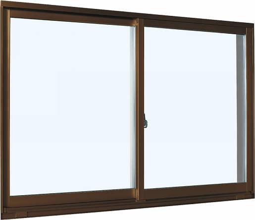 YKKAP窓サッシ引き違い窓エピソード[Low-E複層防犯ガラス]2枚建半外付型[Low-E透明4mm+合わせ型7mm]:[幅1690mm×高370mm]