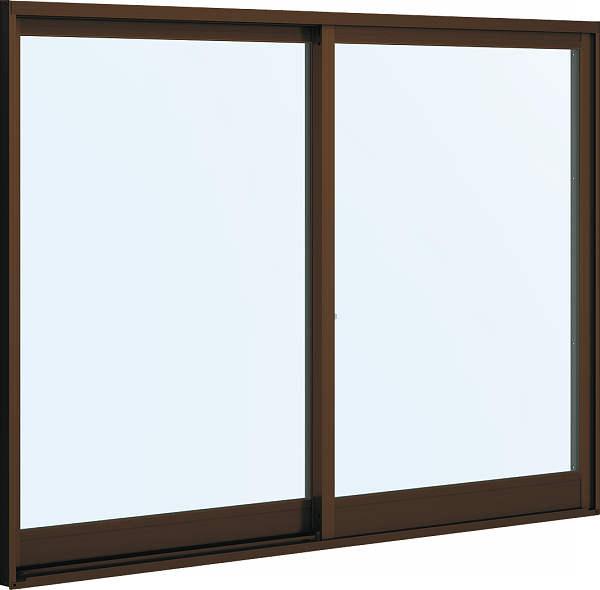 YKKAP窓サッシ引き違い窓フレミングJ[複層防音ガラス]2枚建半外付型[透明5mm+透明4mm]:[幅730mm×高770mm]