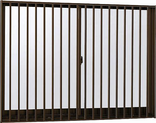 YKKAP窓サッシ引き違い窓エピソード[複層防音ガラス]2枚建[面格子付]縦格子[半外付型][透明4mm+透明3mm]:[幅1540mm×高1170mm]
