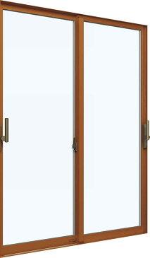 【福井県内のみ販売商品】YKKAP 引き違い窓 エピソード[Low-E複層ガラス] 2枚建[下枠ノンレール] サポートハンドル[キックプレート有]:[幅2550mm×高2030mm]