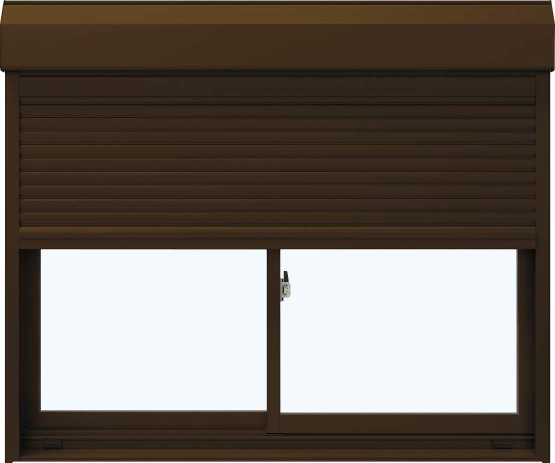 YKKAP窓サッシ引き違い窓エピソード[複層防犯ガラス]2枚建[シャッター付]スチール[半外付型]透明3mm+合わせ透明7mm:[幅1185mm×高1370mm]