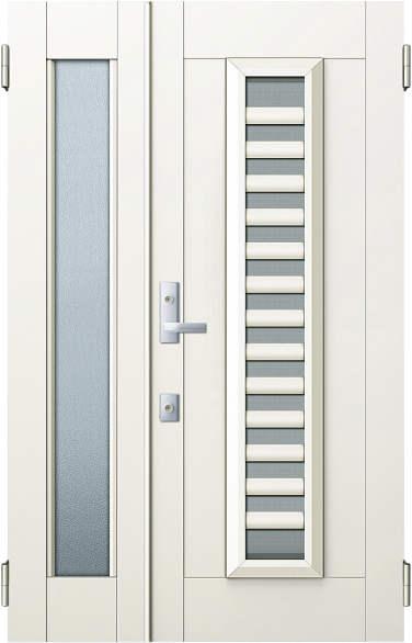 YKKAP玄関 リフォーム玄関ドア 取替玄関ドア アミティII用 親子:S11型 親ドア本体幅:754mm×高さ:1900mm 子ドア本体幅:414mm×高さ:1900mm