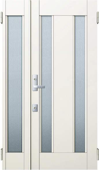 YKKAP玄関 リフォーム玄関ドア 取替玄関ドア アミティII用 親子[入隅]:S02型 親ドア本体幅:754mm×高さ:1900mm 子ドア本体幅:312mm×高さ:1900mm