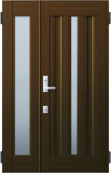 YKKAP玄関 リフォーム玄関ドア 取替玄関ドア アミティII用 親子[入隅]:S03型 親ドア本体幅:754mm×高さ:1900mm 子ドア本体幅:312mm×高さ:1900mm