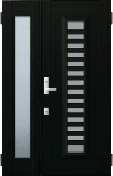 YKKAP玄関 リフォーム玄関ドア 取替玄関ドア アミティII用 親子[入隅]:S11型 親ドア本体幅:754mm×高さ:1900mm 子ドア本体幅:312mm×高さ:1900mm