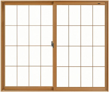 LIXILインプラス 引き違い窓 2枚建[単板ガラス] 和紙調5mm組子付ガラス:[幅1501〜2000mm×高1401〜1900mm]【トステム】【リクシル】【LIXIL】【引違い】【内窓】【二重窓】【樹脂製内窓】【二重サッシ】