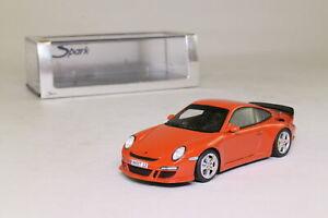 車・バイク, レーシングカー  spark s0704; 2005 ruf rt12porsche 911, rouge; excellent boxed