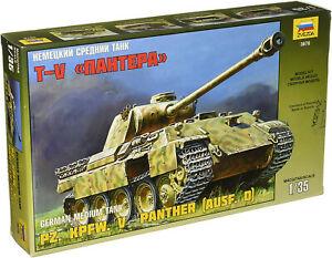 【送料無料】ホビー 模型車 車 レーシングカー ?パンサーzvezda 500783678 1 35 blindes de combat v panther conception d画像